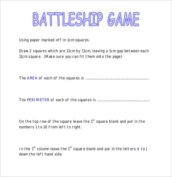 classic battleship game instructions