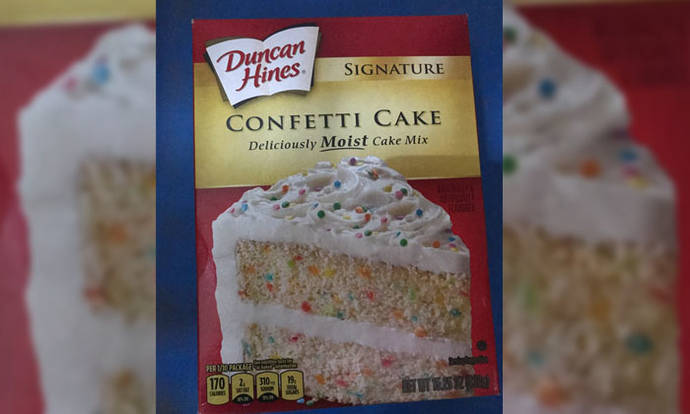 confetti cake mix duncan hines instructions