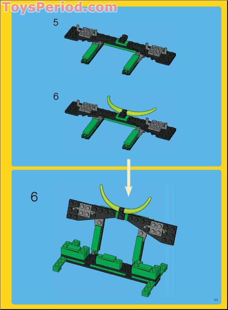 lego creator green dragon instructions