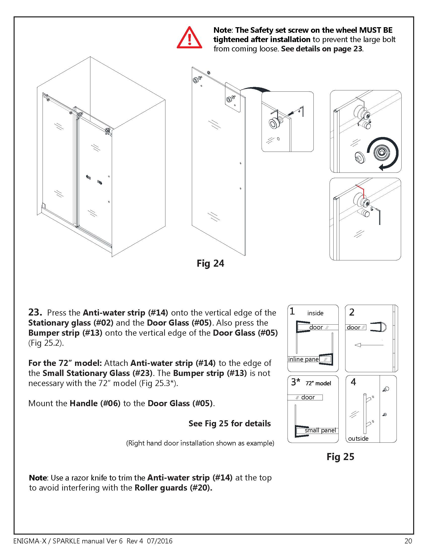 empered glass with guide installation instructions