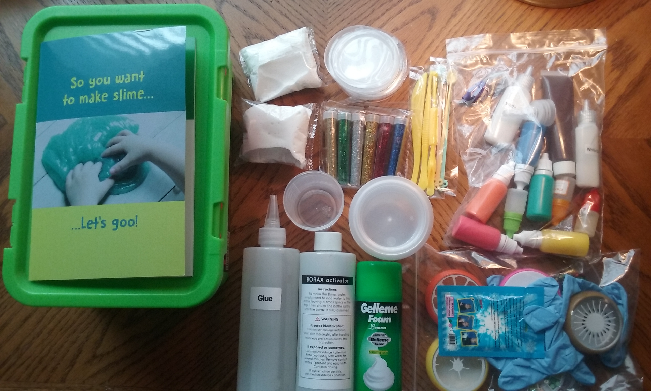 nickelodeon slime kit mixing instructions with slime activator