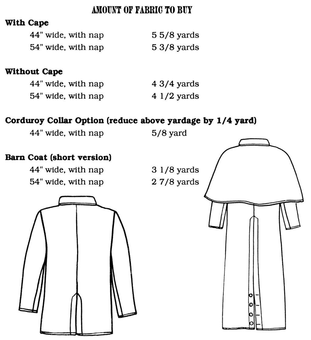 free pattern for range coat or duster complete instructions