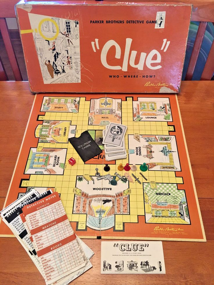 hasbro clue game instructions