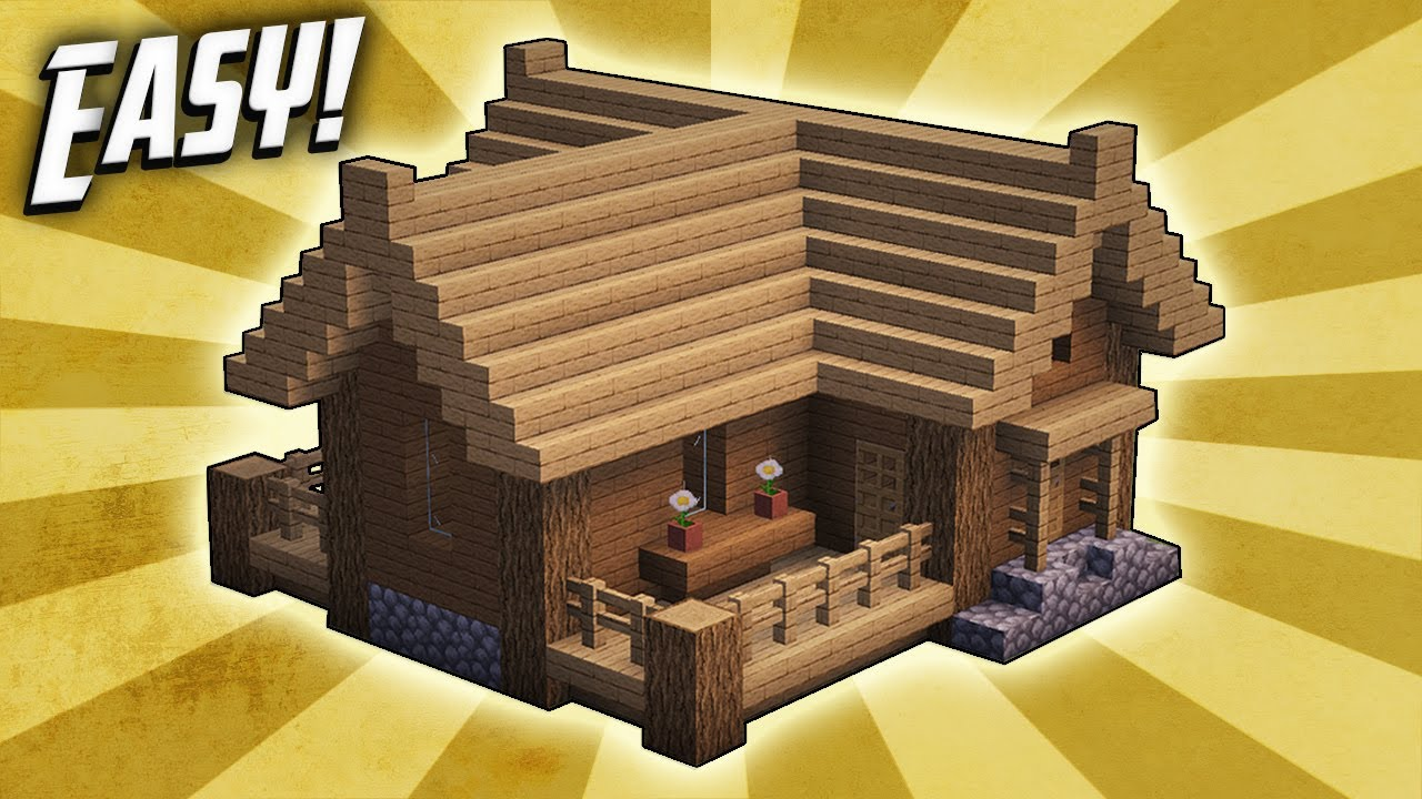how to build a good starter house in minecraft instructions