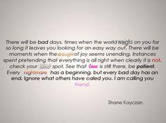 instructions for a bad day by shayne koyzan