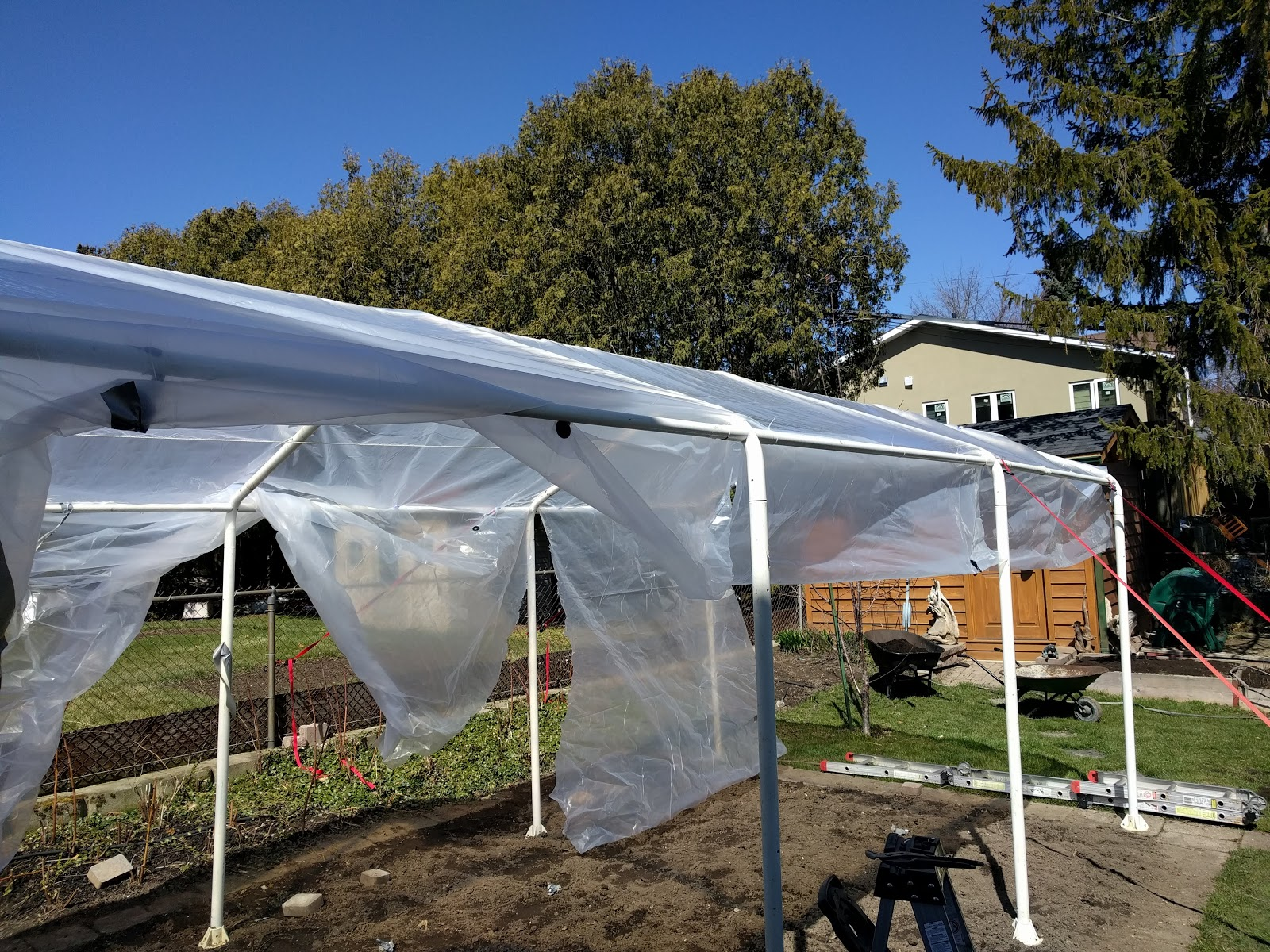 instructions for putting up a greenhouse