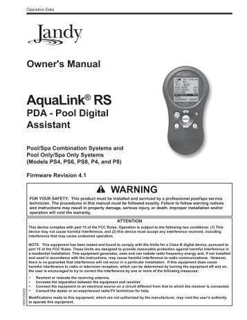 jacuzzi pool pump instruction manual
