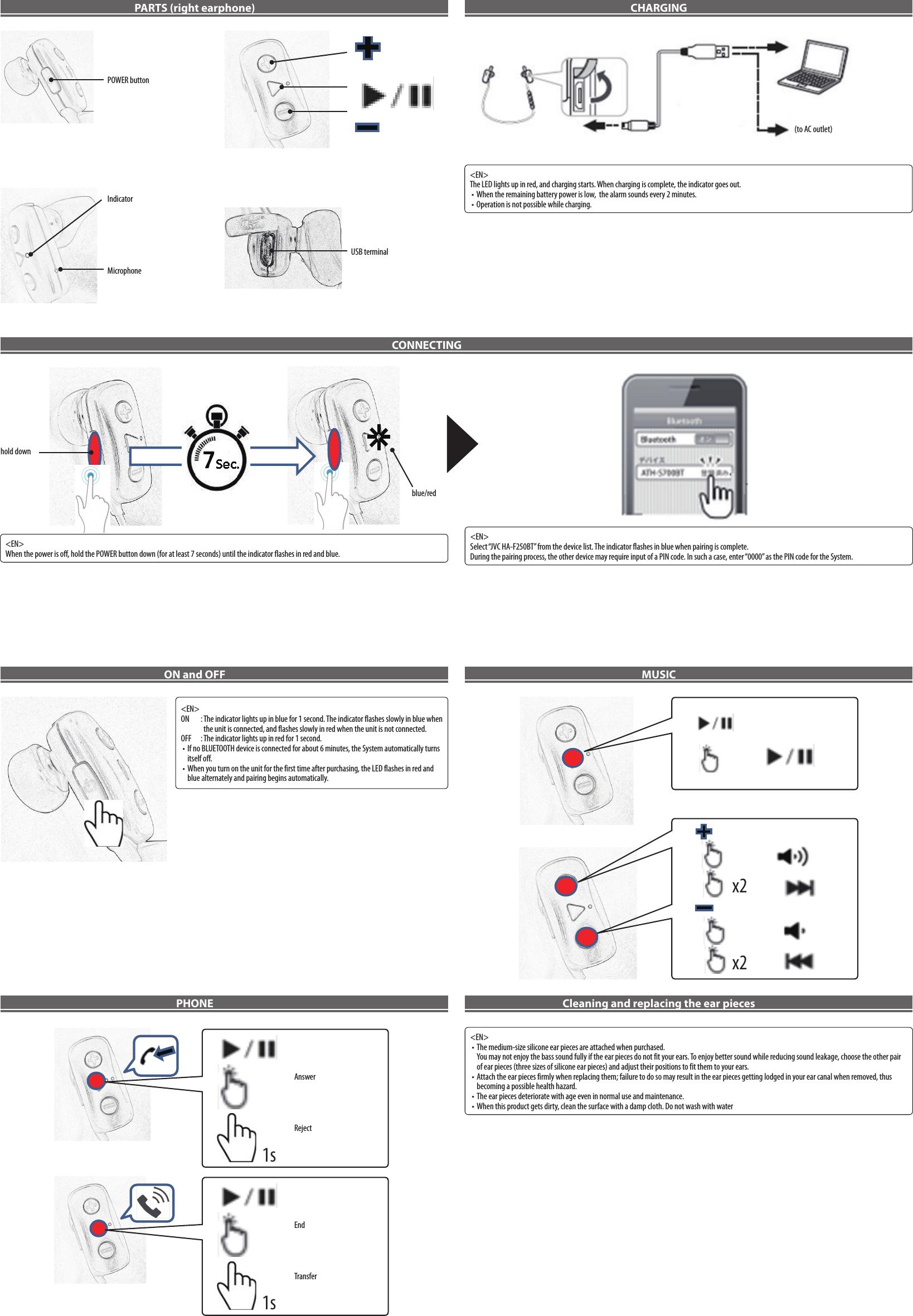 jaybird wireless earphone instruction manual
