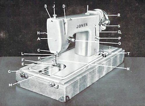 jones sewing machine instruction manual