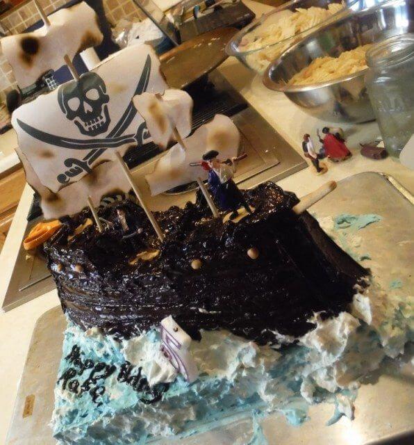 nordic ware pirate ship cake pan instructions