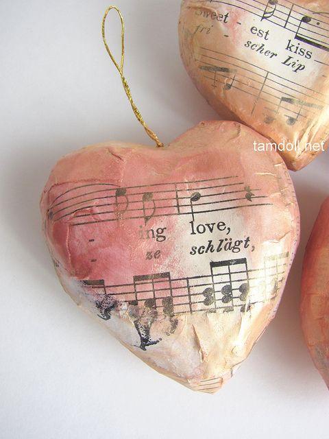 paper mache heart instructions