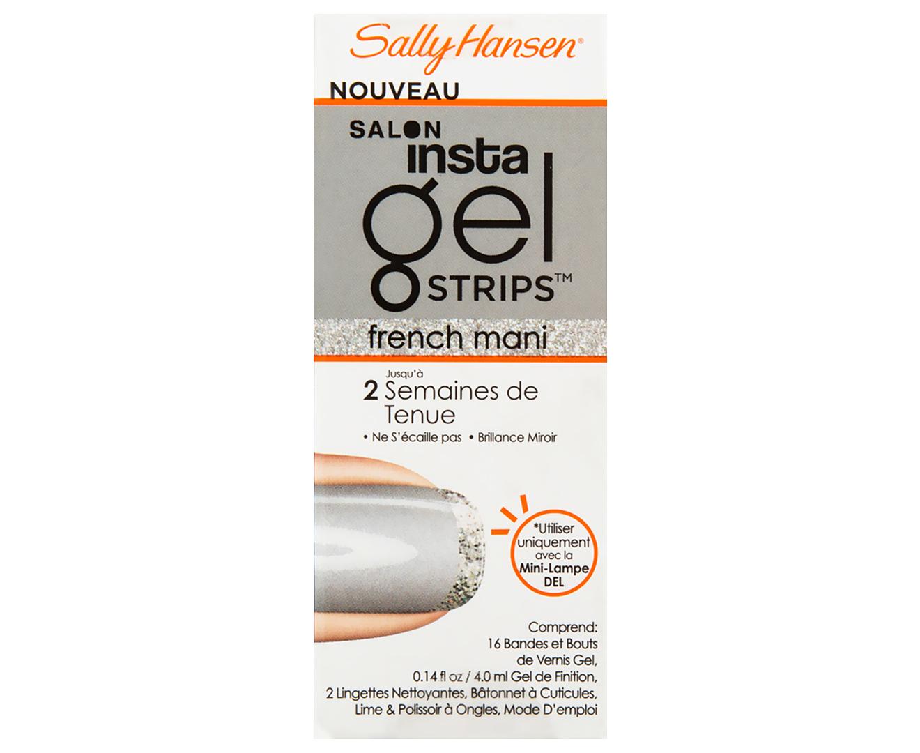 sally hansen led gel polish instructions
