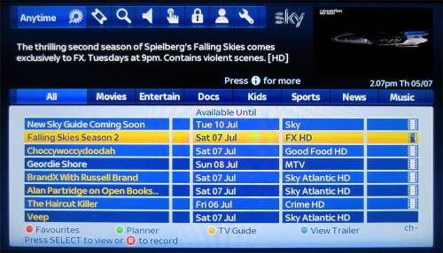 sky tv link instructions