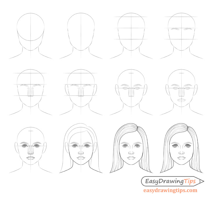 step by step instructions to draw a person