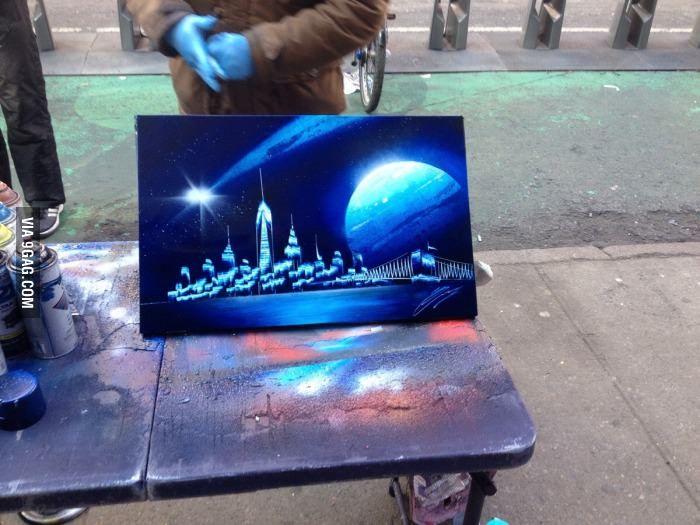 street art spray paint instruction