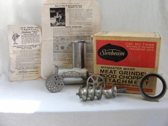 sunbeam meat grinder instructions