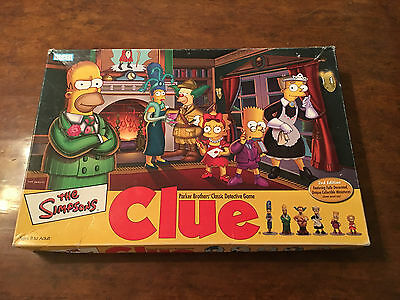the simpsons clue board game instructions