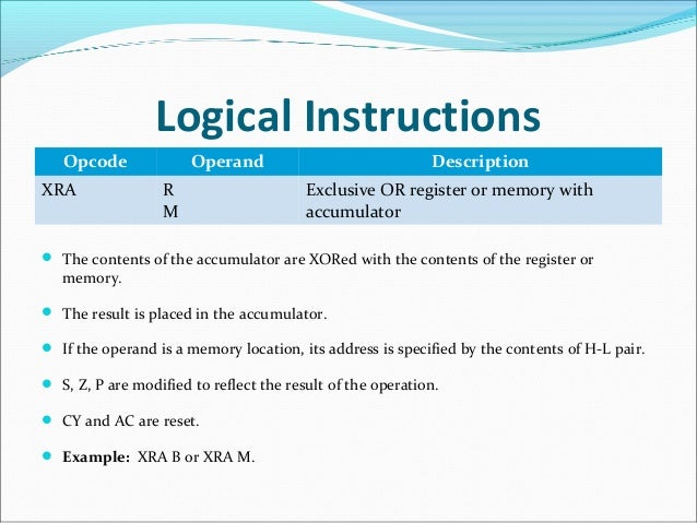 what is logical instructions