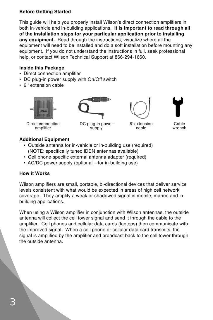 wilson amplifier in building 60hz instructions